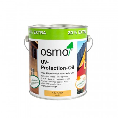 Osmo 420 UV Protection Oil Extra Clear 20% Extra Free. 3L for the price of 2.5L