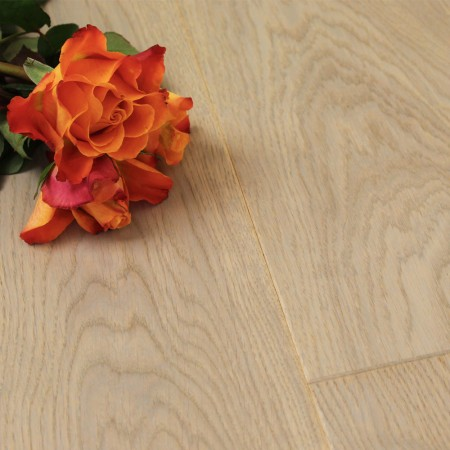 180mm Brushed & Matt Lacquered Engineered Bradgate Stone Oak Click Wood Flooring 2.77m²