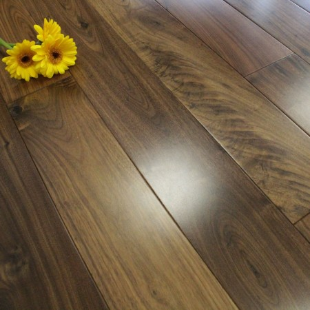 110mm Lacquered Solid American Walnut Wood Flooring 1.94m²
