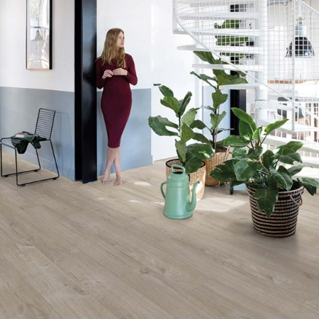 Quick-Step Livyn Pulse Click Cotton Oak Warm Grey PUCL40105 Vinyl Flooring