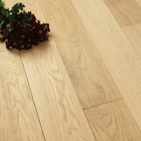 114mm Unfinished Natural Solid Oak Wood Flooring 1m²
