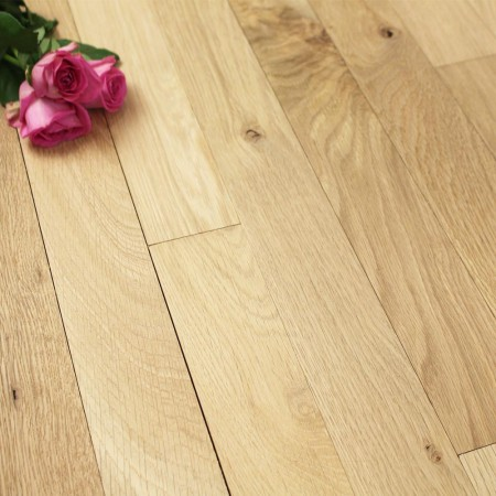 63mm Unfinished Natural Solid Oak Wood Flooring 1m²