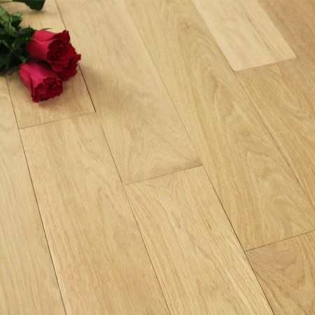 114mm Unfinished Prime Solid Oak Wood Flooring 1m²