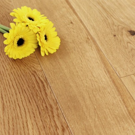 125mm UV Satin Lacquered Engineered Rutland Oak Wood Flooring 1.44m²