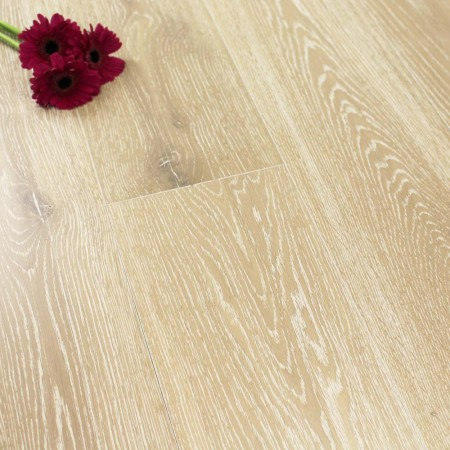 180mm Brushed & Lacquered Engineered Ivory Oak Wood Flooring 2.592m²