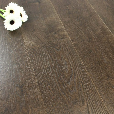 180mm Brushed & Lacquered Engineered Expresso Oak Wood Flooring 2.592m²