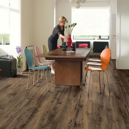 Quick-Step Perspective Wide Reclaimed Chestnut Brown Planks 2 Groove ULW1544 Laminate Flooring