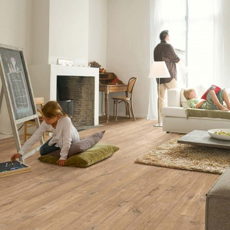 Quick-Step Perspective Wide Oak With Saw Cuts Nature Planks 4 Groove UFW1548 Laminate Flooring
