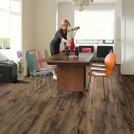 Quick-Step Eligna Wide Reclaimed Chestnut Brown Planks UW1544 Laminate Flooring