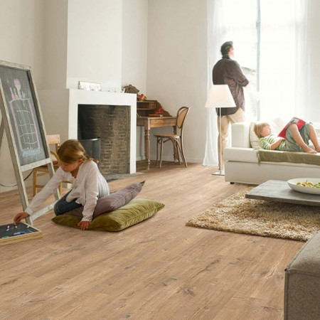 Quick-Step Eligna Wide Oak With Saw Cuts Nature Planks UW1548 Laminate Flooring