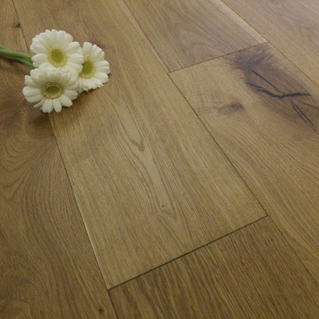 190mm UV Oiled Engineered Natural Smoked Oak Wood Flooring 2.51m²
