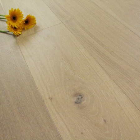 185mm Brushed & Matt Lacquered Engineered Sandy Beach Oak Click Wood Flooring 2.33m²