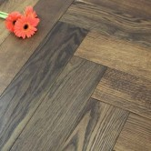 120mm Brushed & Oiled Engineered Cappuccino Oak Parquet Block Wood Flooring 0.864m²