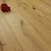 190mm Engineered Brushed & UV Oiled Natural Charnwood Oak Flooring 2.166m²