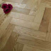 70mm Engineered Brushed & UV Oiled Natural Charnwood Oak Parquet Block Wood Flooring 0.86m²