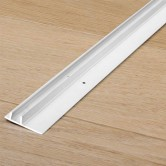 Quick-Step White Track For Laminate Skirting Boards (8x27mm) 2.4mtr