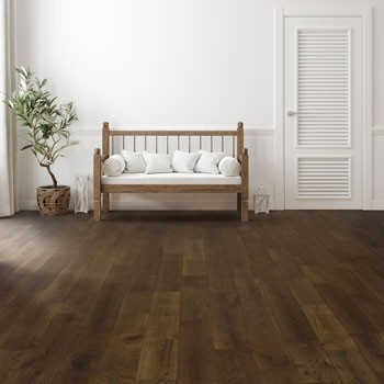 150mm Brushed & UV Oiled Engineered Chocolate Charnwood Oak Click Wood Flooring 1.08m²