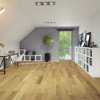 150mm Brushed & UV Oiled Engineered Medium Natural Charnwood Oak Click Wood Flooring 1.08m²