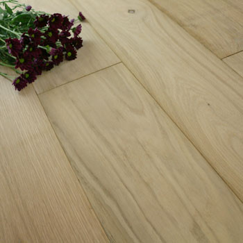 190mm Engineered Unfinished Oak Wood Flooring 2.166m²