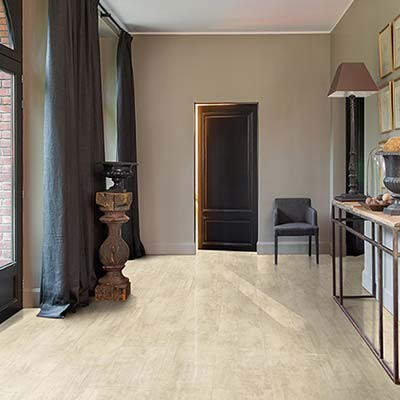 Quick-Step Livyn Ambient Click + Cream Travertin AMCP40046 Vinyl Flooring