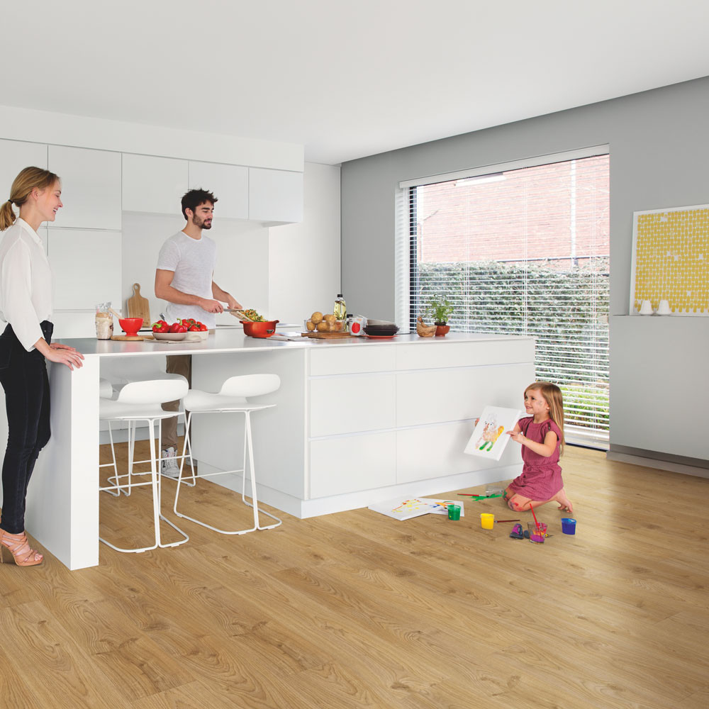 Quick-Step Alpha Vinyl Small Planks Cottage Oak Natural AVSP40025 Vinyl Flooring