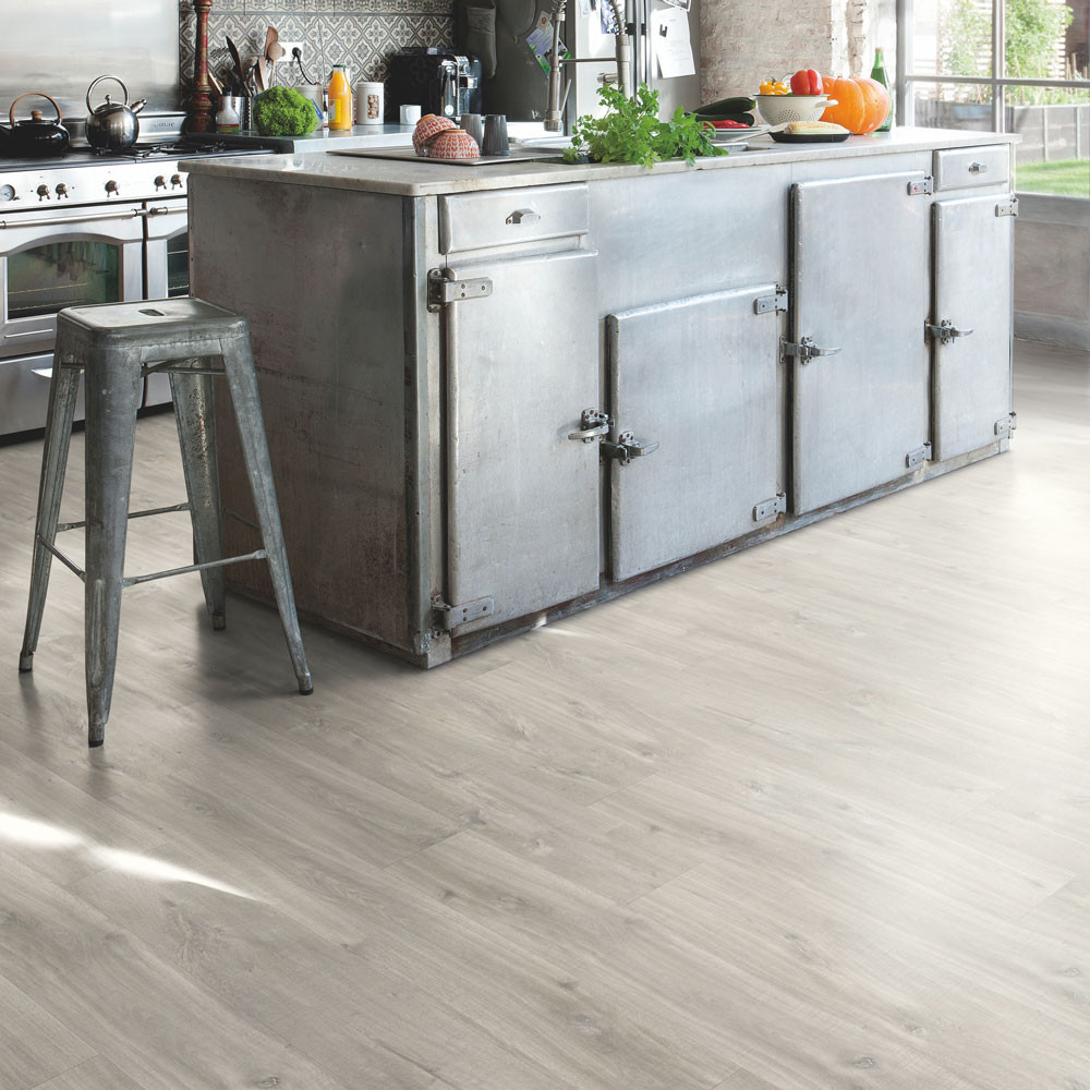 Quick-Step Alpha Vinyl Small Planks Canyon Oak Grey With Saw Cuts AVSP40030 Vinyl Flooring