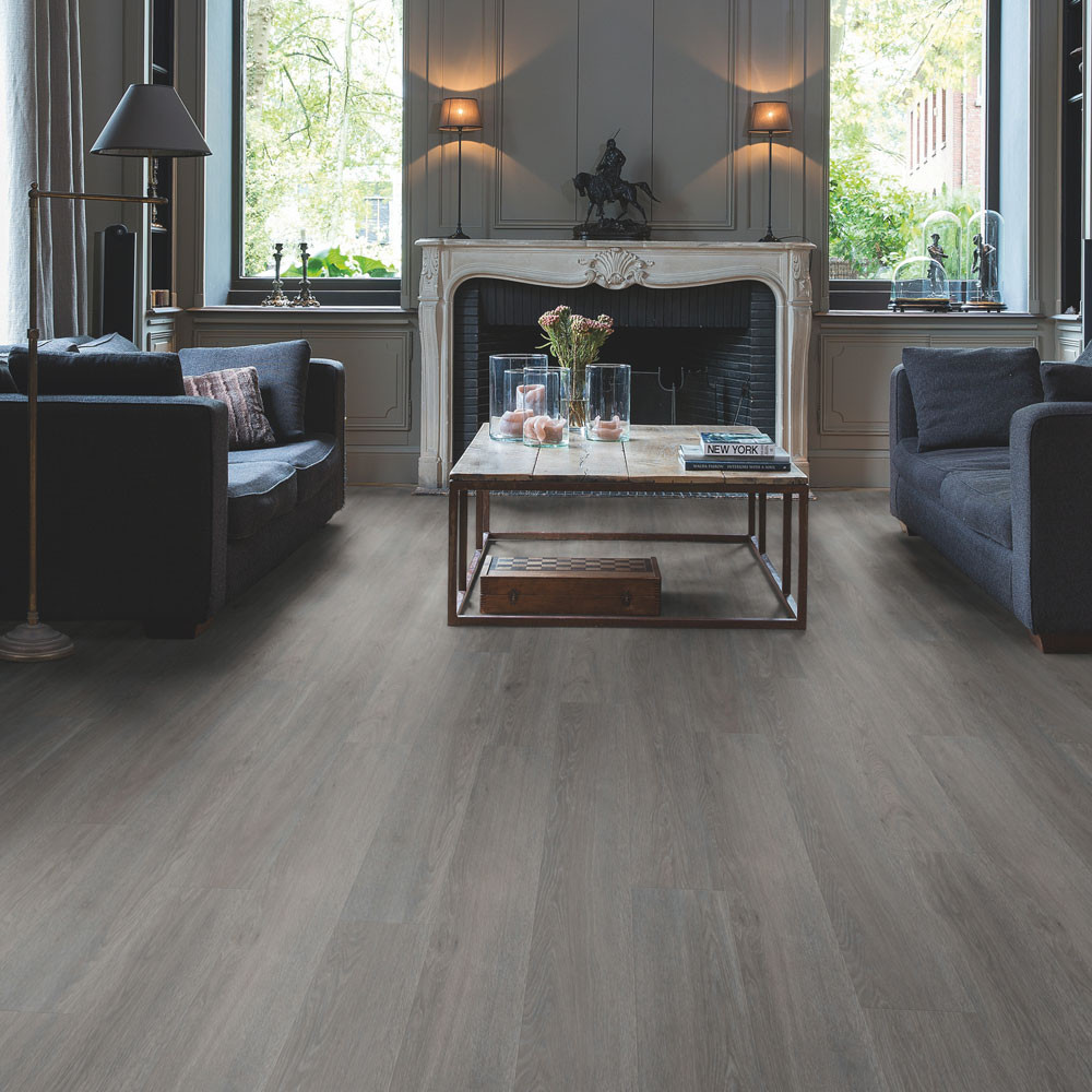 Quick-Step Alpha Vinyl Small Planks Silk Oak Dark Grey AVSP40060 Vinyl Flooring