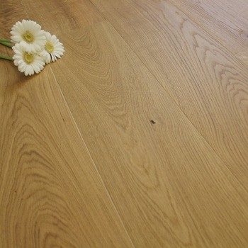 190mm Brushed & Oiled Engineered Sunshine Oak Click Wood Flooring 2.075m²