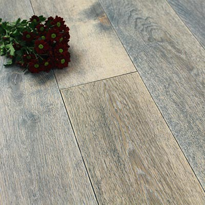 190mm Rustic UV Oiled Engineered Ship Deck Oak Wood Flooring 2.17m²