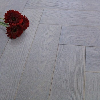 120mm Engineered Grey Haze Oiled Parquet Block Oak Wood Flooring 0.72m²