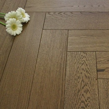 120mm Engineered Peanut Brown Oiled Parquet Block Oak Wood Flooring 0.72m²