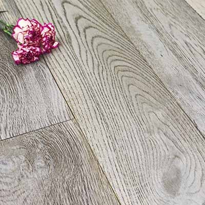 190mm Brushed & Oiled Engineered Shale Grey Oak Wood Flooring 2.166m²