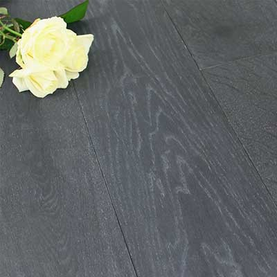 190mm Brushed & Oiled Engineered Charcoal Oak Wood Flooring 2.166m²