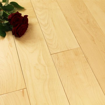 125mm Lacquered Prime Solid Maple Wood Flooring 1.86m²