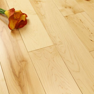 125mm Lacquered Natural Solid Maple Wood Flooring 1.86m²