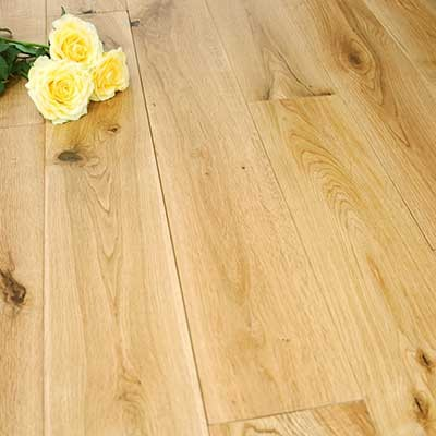 150mm Lacquered Solid Oak Wood Flooring 1.98m²