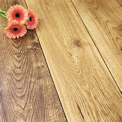 160mm UV Oiled Engineered Black Stained Oak Wood Flooring 1.41m²