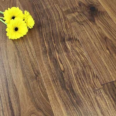190mm Lacquered Engineered Walnut Wood Flooring 1.8m²