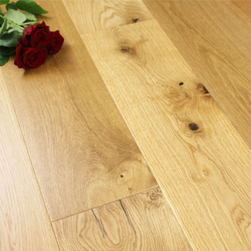 190mm Natural Oiled Engineered Knotty Oak Click Wood Flooring 2.89m²