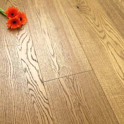 190mm Brushed & Oiled Engineered Honey Oak Click Wood Flooring 2.89m²
