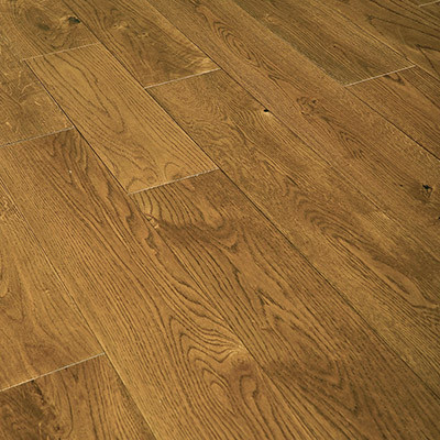 125mm Brushed & UV Oiled Golden Stained Engineered Oak Flooring 2.2m²