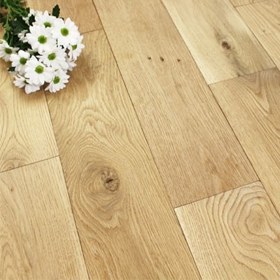 165mm Unfinished Natural Solid Oak Wood Flooring 1m²