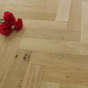 70mm Unfinished Natural Parquet Block Solid Oak Wood Flooring 1.47m²