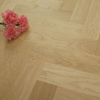 70mm Unfinished Prime Parquet Block Solid Oak Wood Flooring 1.26m²