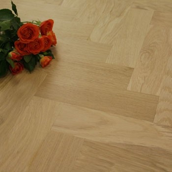 70mm Unfinished Prime Parquet Block Solid Oak Wood Flooring 1.06m²