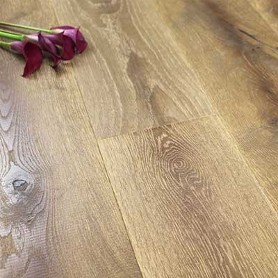 190mm Rustic UV Oiled Engineered Scorched Oak Wood Flooring 2.17m²