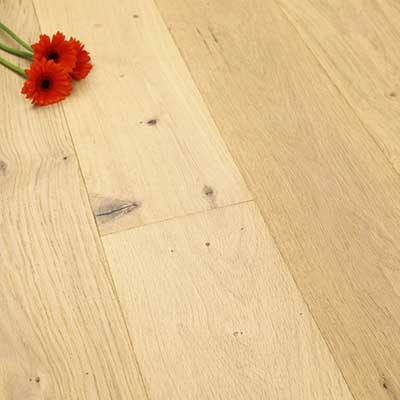 190mm Rustic UV Oiled Engineered Porcelain White Oak Wood Flooring 2.17m²