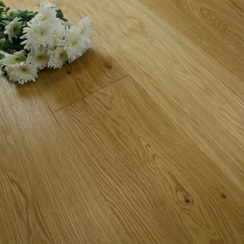188mm Engineered Brushed & Natural Oiled Oak Wood Flooring 2.25m²