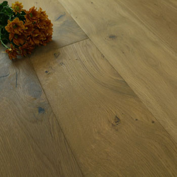 190mm Engineered Light Hand Scraped & White Oiled 1-Strip Oak Wood Flooring 2.88m²