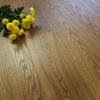 180mm Brushed & Matt Lacquered Engineered Antique Charnwood Oak Click Wood Flooring 2.77m²
